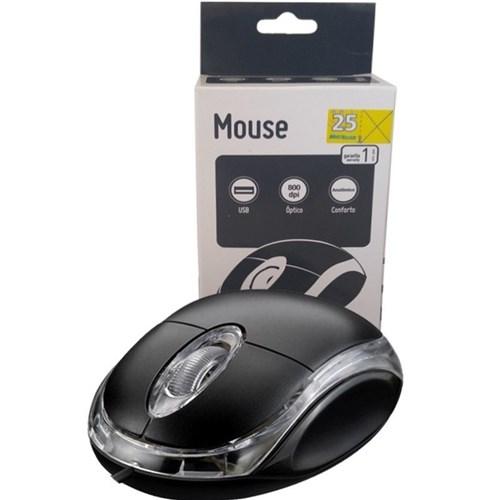 Mouse Multilaser Classic Usb Preto - Mo130