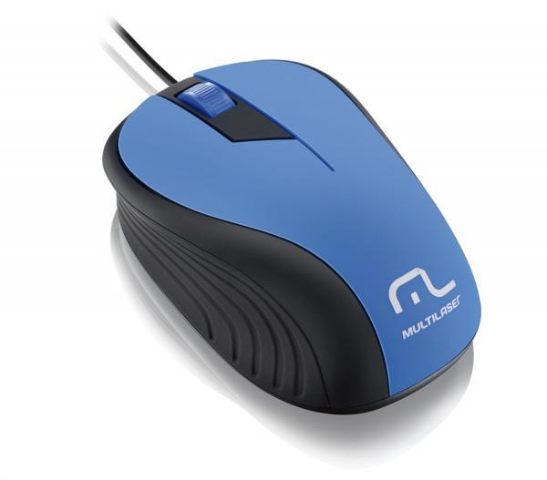 Mouse Multilaser Emborrachado com Fio USB MO226