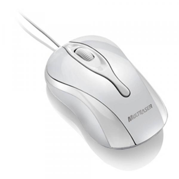 Mouse Multilaser Ice USB Branco - MO140