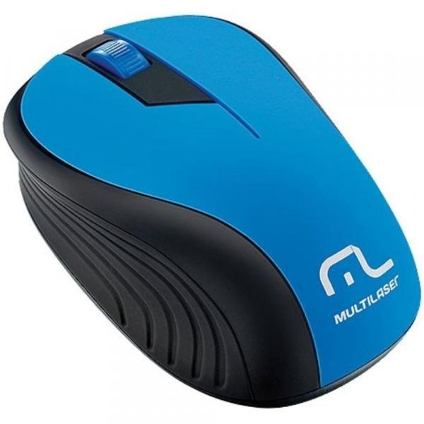 Mouse Multilaser MO215 USB 2.4GHz USB - Preto/Azul Sem Fio