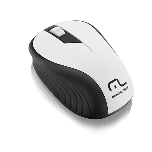 Mouse Multilaser Sem Fio 2.4Ghz Preto Branco Mo216