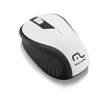 Mouse Multilaser Sem Fio 2.4Ghz Preto e Branco USB - MO216 MO216