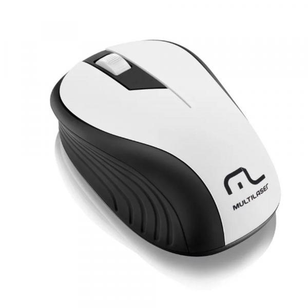 Mouse Multilaser Sem Fio 2.4Ghz Preto e Branco Usb MO216