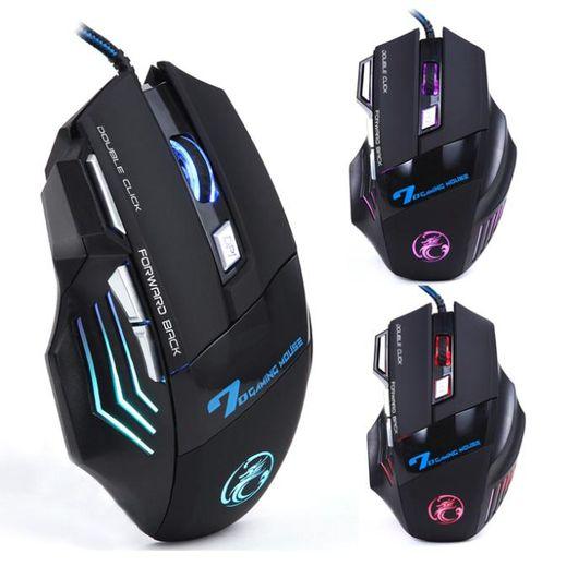 Tudo sobre 'Mouse Óptico Estone Gaming X7 3200dpi USB com 7 Botões e LED Preto - 501'