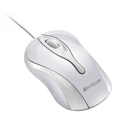 Mouse Óptico Multilaser Mo140 Colors Ice USB Branco