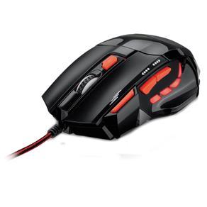 Mouse Óptico Multilaser Xgamer Fire Button USB,2400 DPI Preto /Vermelho - MO236