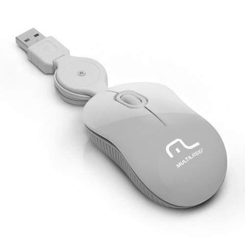 Mouse Óptico Retrátil Multilaser Super Mini Ice Usb - 184