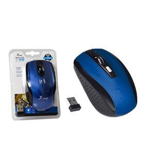 Mouse Óptico Sem Fio 1200 Dpi 2.4Ghz Preto e Azul G17
