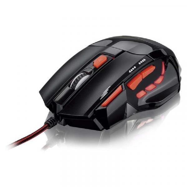 Mouse Optico XGamer Fire Button USB 2400 Dpi Preto e Vermelho MO236 Multilaser
