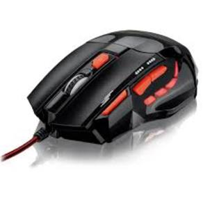 Mouse Óptico Xgamer Fire Button Usb 2400Dpi Preto e Vermelho - Mo236