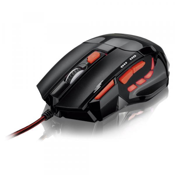 Mouse Óptico Xgamer Fire Button Usb 2400dpi Preto e Vermelho - Multilaser