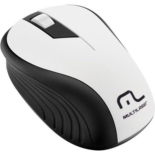 Mouse Sem Fio 2.4ghz Preto e Branco Usb 1200dpi Plug And Play Mo216