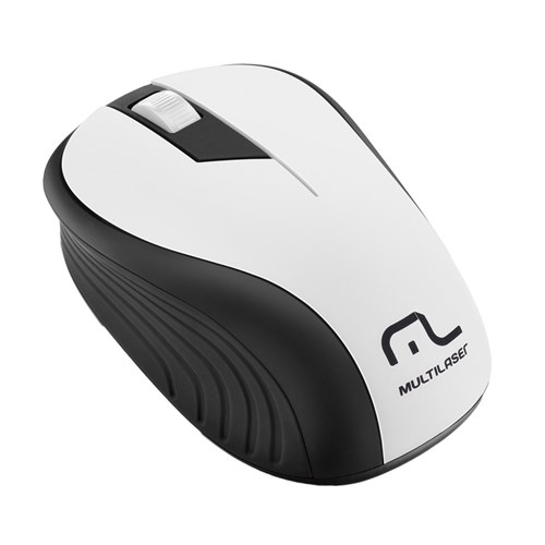 Mouse Sem Fio 2.4Ghz Usb 1200Dpi Preto/Branco Mo216 - Multilaser