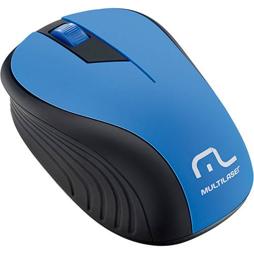 Tudo sobre 'Mouse Sem Fio Preto e Azul USB - Multilaser'