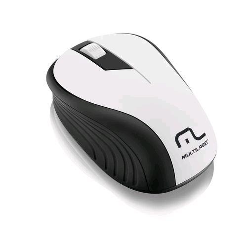Mouse Sem Fio Preto e Branco 2,4ghz Mo216 Multilaser