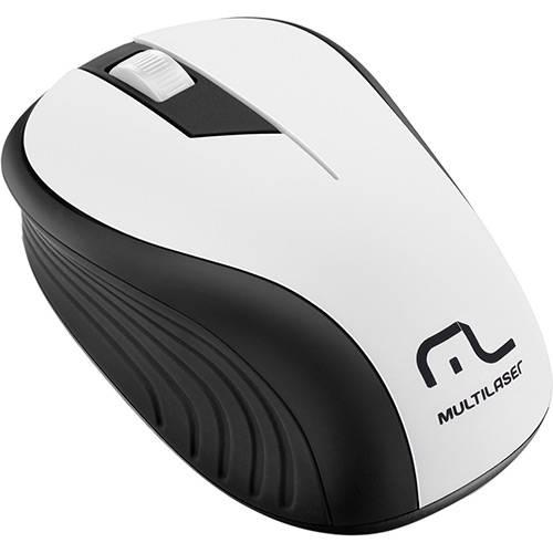Mouse Sem Fio Preto e Branco USB - Multilaser