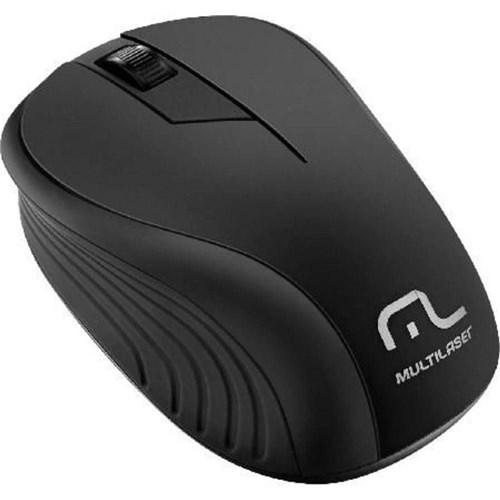 Mouse Sem Fio Preto Multilaser MO212