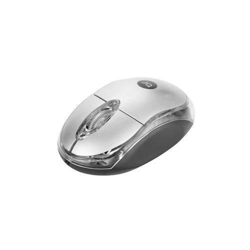 Mouse USB Bright Espanha Prata 0107