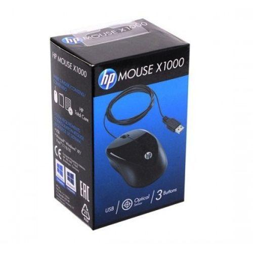 Mouse - USB - HP - Preto - X1000