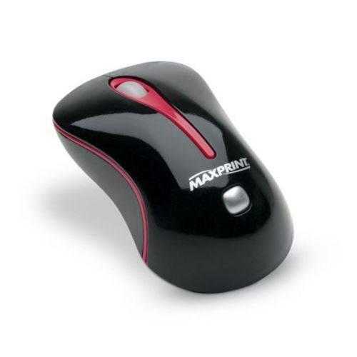 Mouse USB Óptico 60380-3 Preto/vermelho - Maxprint