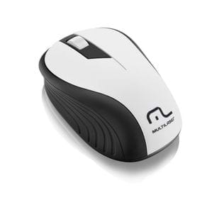Mouse USB S/ Fio Multilaser MO216 2.4 GHZ 1200 DPI Preto/Branco