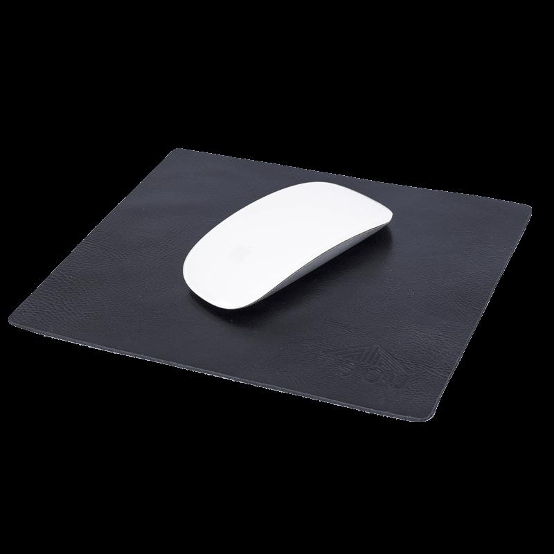 Mousepad em Couro Legítimo - Job Preto
