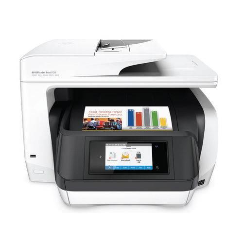 Multifuncional Jato de Tinta Color HP OJ PRO 8720 IMP Duplex Copia DIG Wifi FAX 37PPM - D9L19A#696