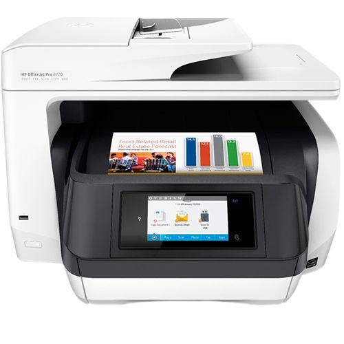 Multifuncional Jato de Tinta Colorida OfficeJet Pro 8720 D9L19A#696 110V HP