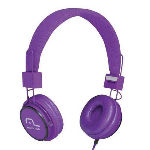 Multilaser Headphone Head Fun com Microfone P2 3,5mm Hi-Fi Ph090 Roxo