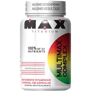 Multimax Complex 90 Cápsulas - Max Titanium - Sem Sabor - 90 Cápsulas