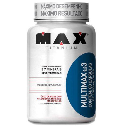 Multimax W3 com 60 Cápsulas - Max Titanium