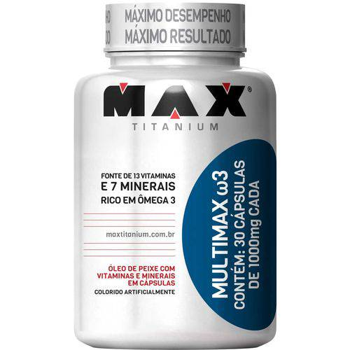 Multimax W3 Ômega3 (30 Caps) - Max Titanium