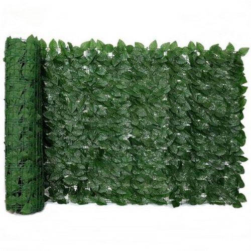 Muro Inglês com Folhas de Ficus Artificial - Tamanho 3mts X 1mt