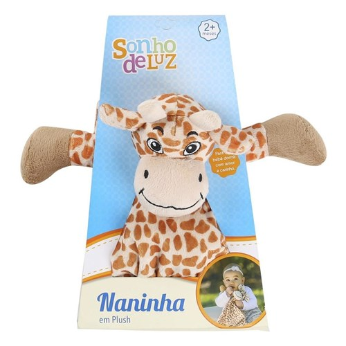 Naninha Girafinha Bege - Sonho de Luz (Bege)
