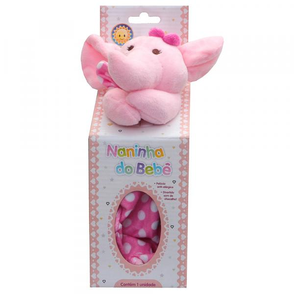 Naninha para Bebê Kitstar Elefante Rosa