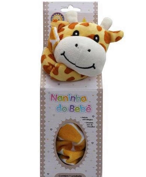 Naninha para Bebê Kitstar - Girafinha Amarela