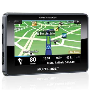 "Navegador GPS Tracker III GP033 Multilaser com Tela Touch Screen de 4.3"" e Suporte para Micro SD Até 8GB"