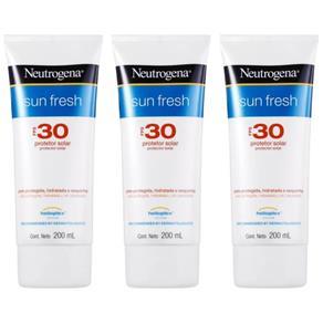 Neutrogena Protetor Solar Fps30 200ml - Kit com 03
