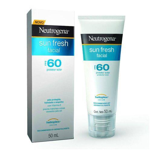 Neutrogena Protetor Solar Sun Fresh Facial Fps 60 50g