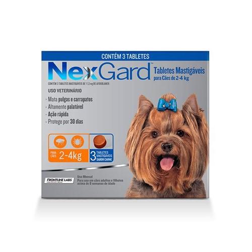 Tudo sobre 'NexGard - Cães 2 a 4kg - 3 Unidades'