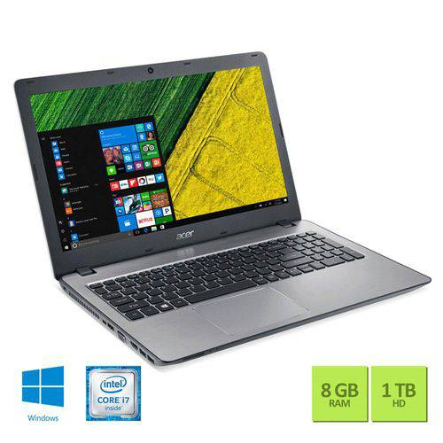 Tudo sobre 'Notebook Acer Aspire F5-573-723q Intel Core I7-6500u 8gb 1tb Windows 10'
