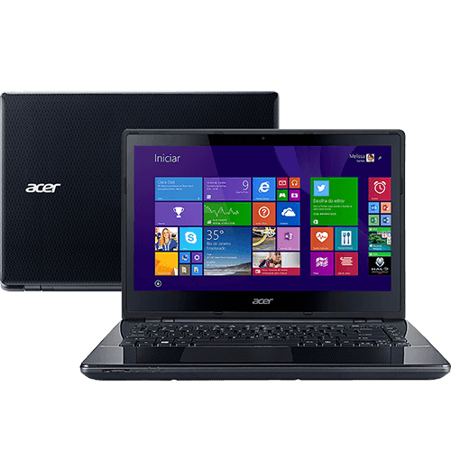Notebook Acer E5-471-34W1 Intel Core I3 4GB 500GB LED 14'' Windows 8.1 - Preto