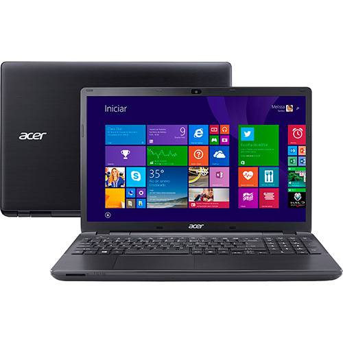 Notebook Acer E5-511-C7NE Intel Quad Core 4GB 500GB Tela LED 15.6'' Windows 8.1 - Preto
