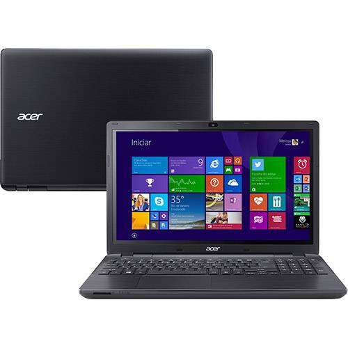 Notebook Acer E5-571-54MC Intel Core I5 4GB 500GB Tela LED 15.6'' Windows 8.1 - Preto