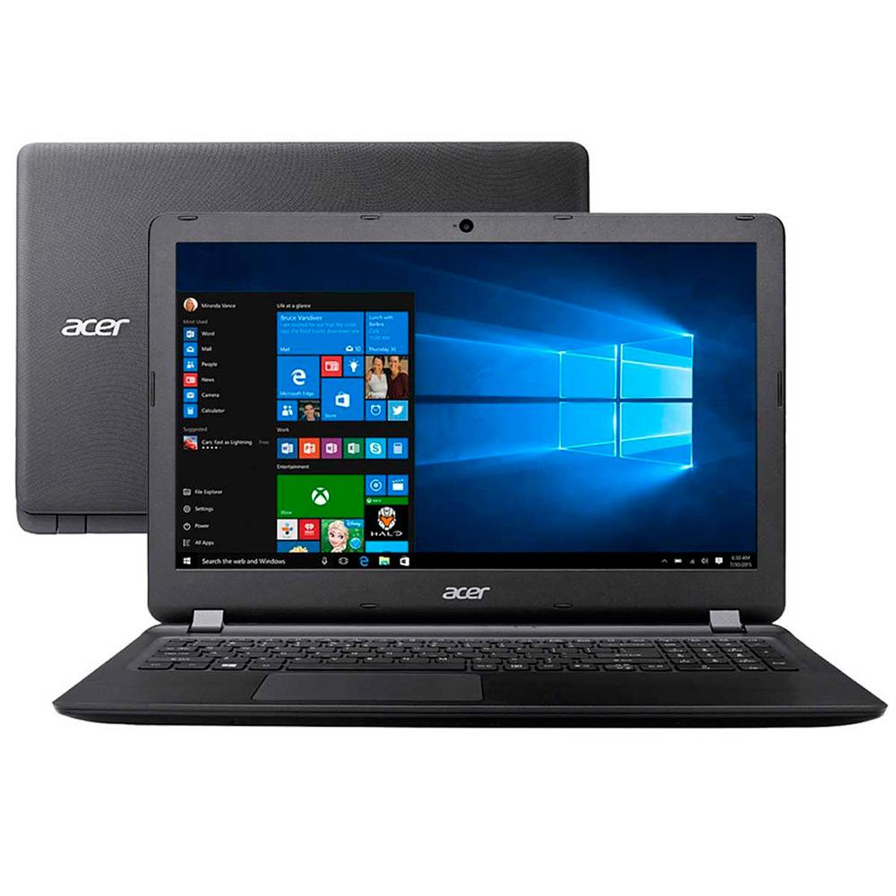 "Notebook Acer ES1-572-323F Intel Core I3 4GB 500GB Tela LED 15,6"" Windows 10 Preto"