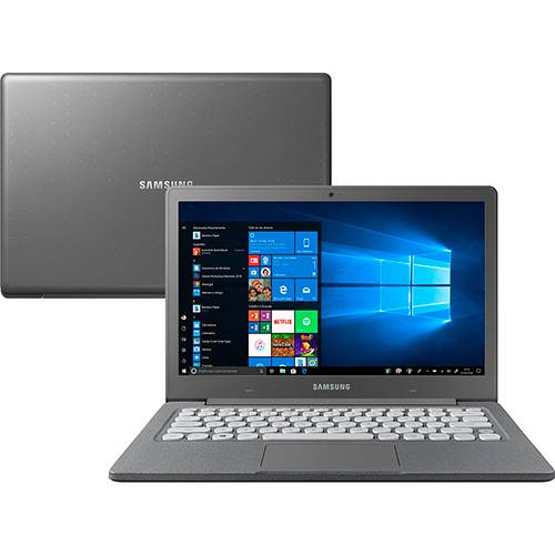"Tudo sobre 'Notebook Flash F30 Intel Celeron 4GB 64GB SSD Full HD 13.3"" W10 Cinza - Samsung'"