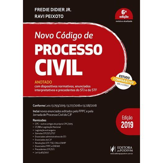 Tudo sobre 'Novo Codigo de Processo Civil Anotado 2019 - Juspodivm'