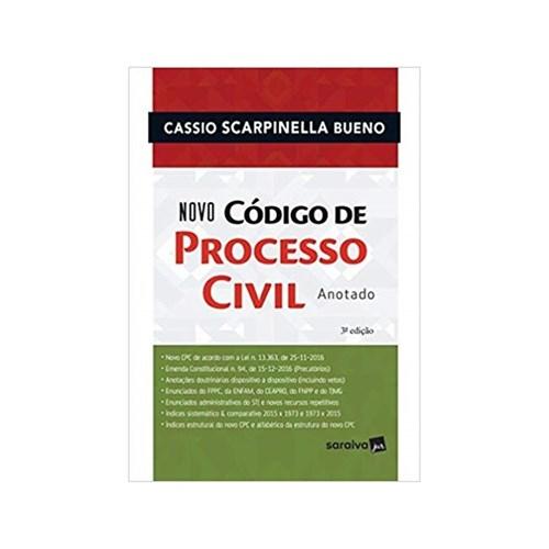 Novo Código de Processo Civil Anotado 3ªed. - Saraiva