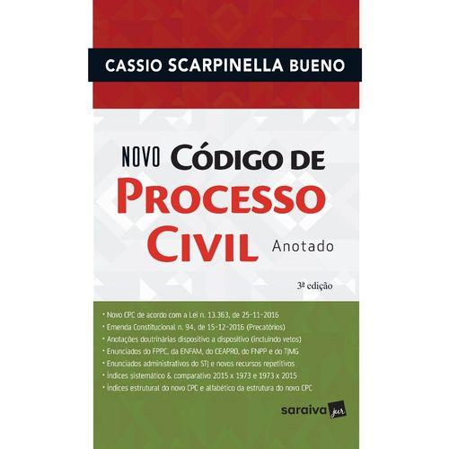 Novo Código de Processo Civil Anotado - 3ª Ed.