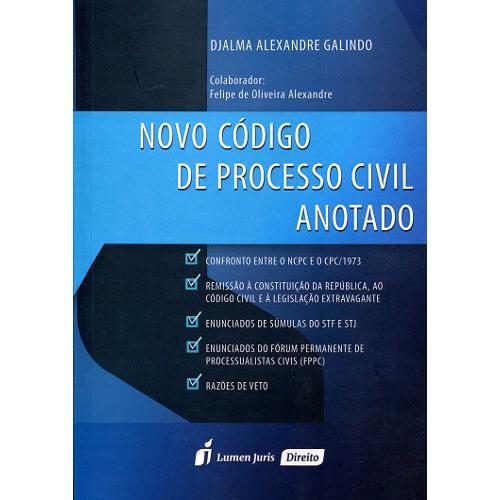 Novo Código de Processo Civil Anotado